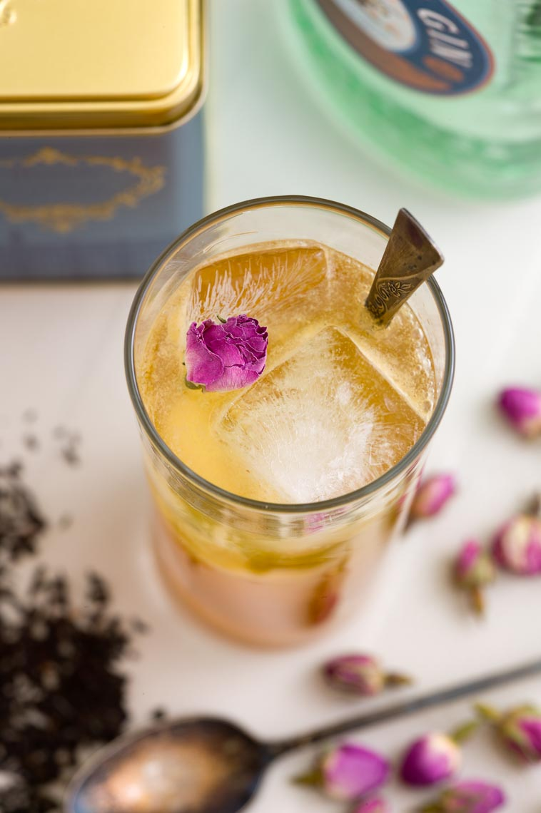 Earl Grey Infused Gin Drink Photography