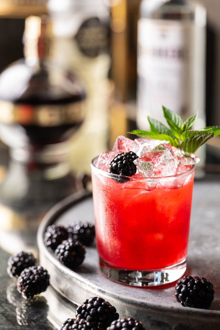 Blackberry Bramble Cocktail - Lehigh Valley Drink Photographer