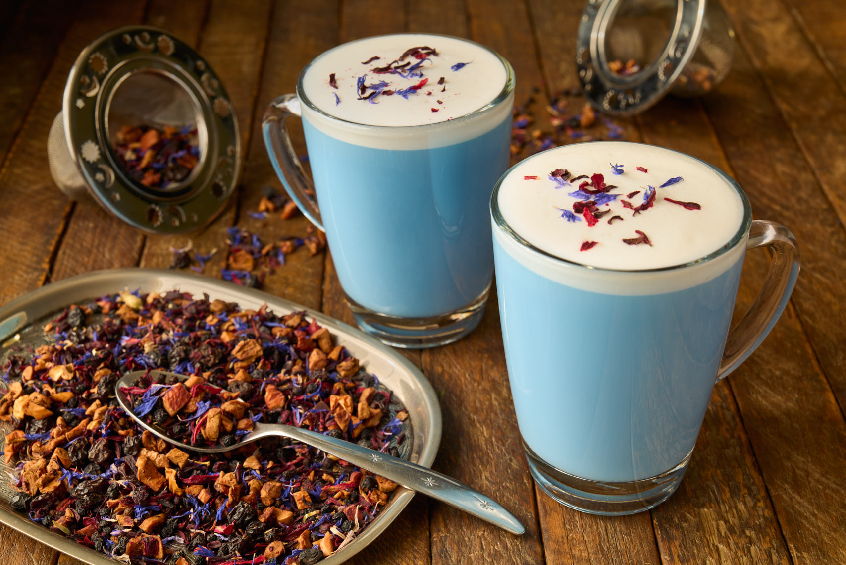 Butterfly Pea Flower Tea - Beverage Photographer - Philadelphia, PA & NJ