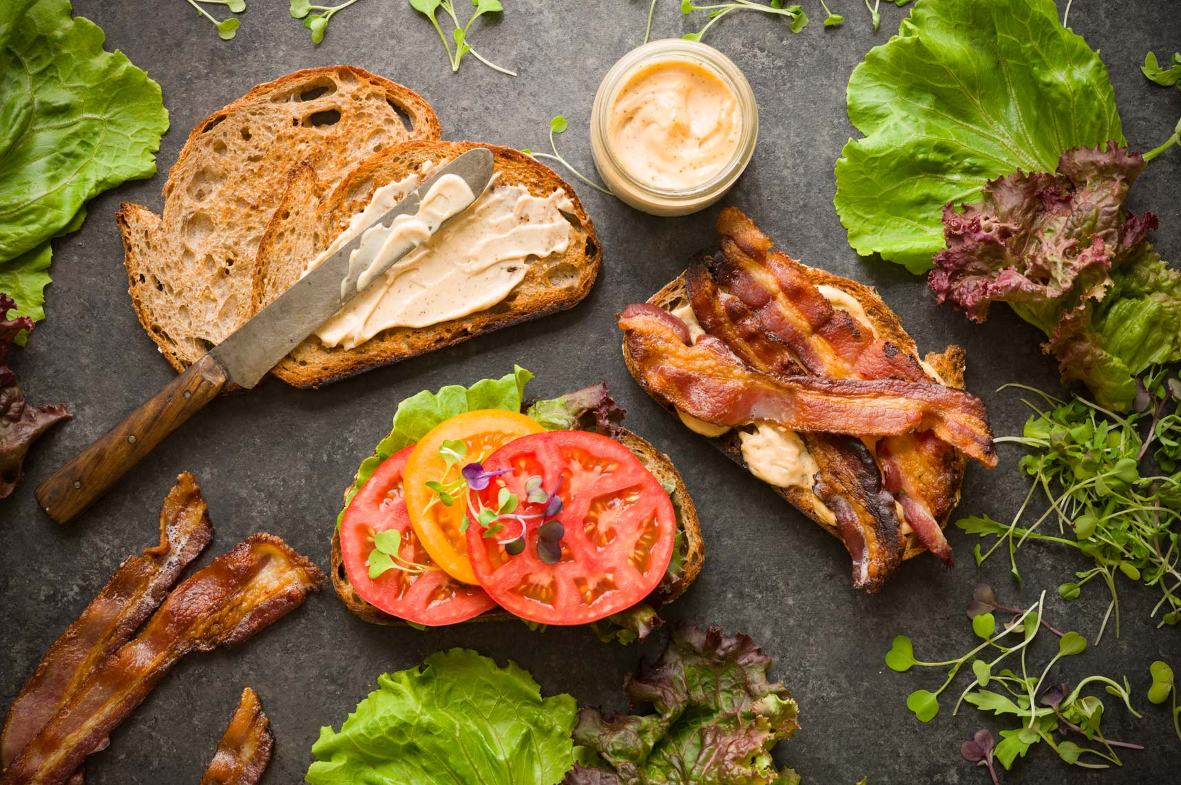 BLT Sandwiches  -  Bucks County, PA Food Photographer - Farm To Table