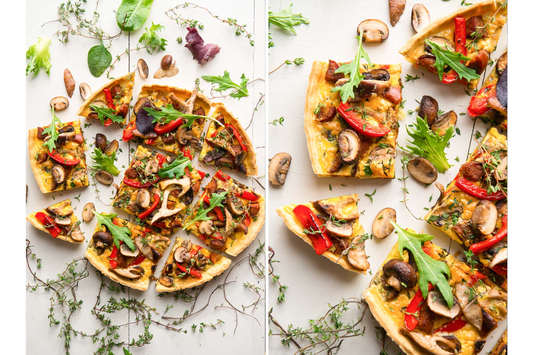 Mushroom Tart - Food Photographer Philadelphia, Pennsylvania