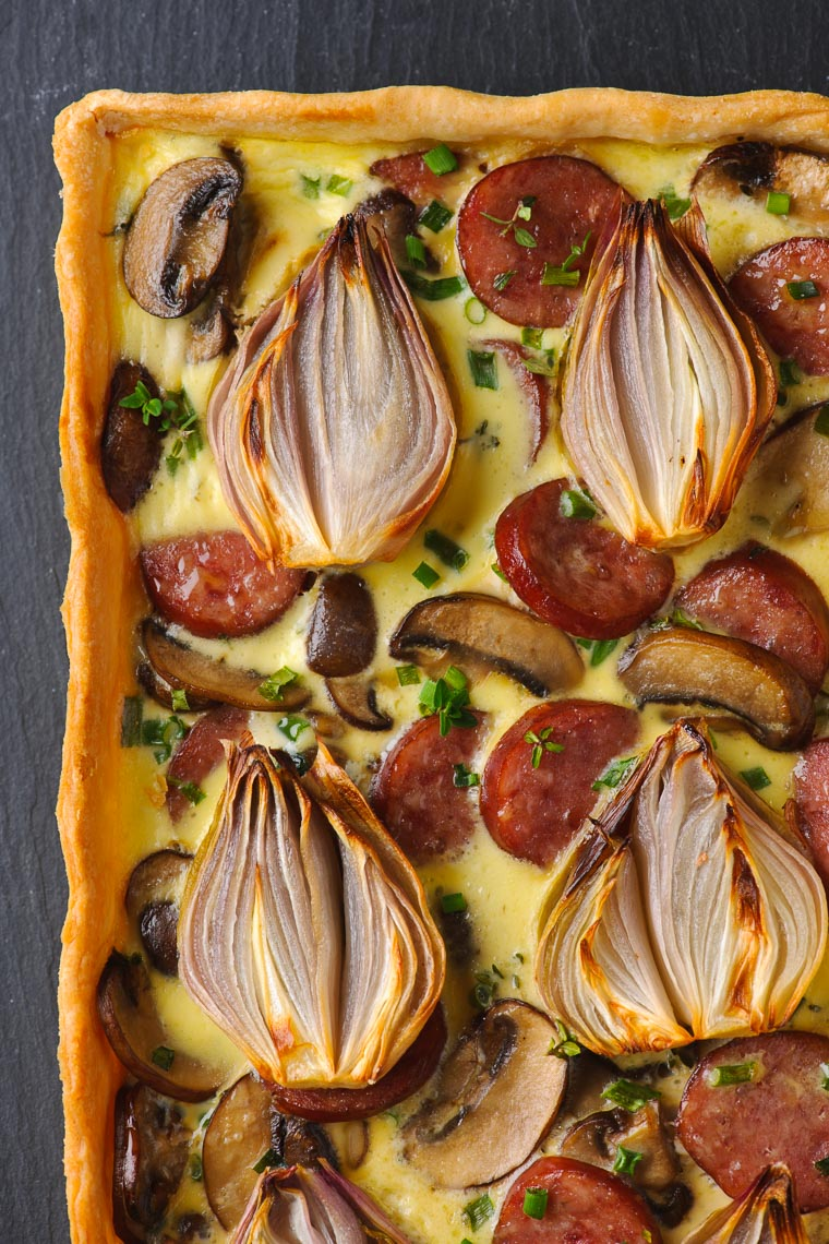 Mushroom Tart - PA, NJ & NYC Food Photography & Stylist