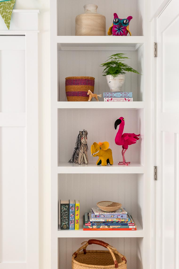 Kids Bedroom Shelf Design - Philadelphia Interior Photographer