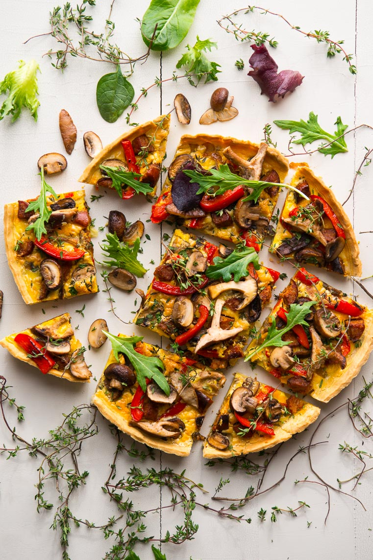 Mushroom Tart - Food Photographer - Pennsylvania
