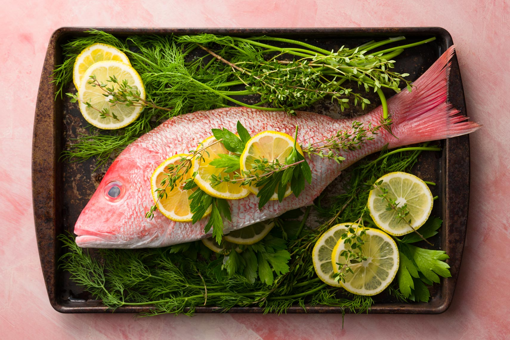 Baked Snapper Fish