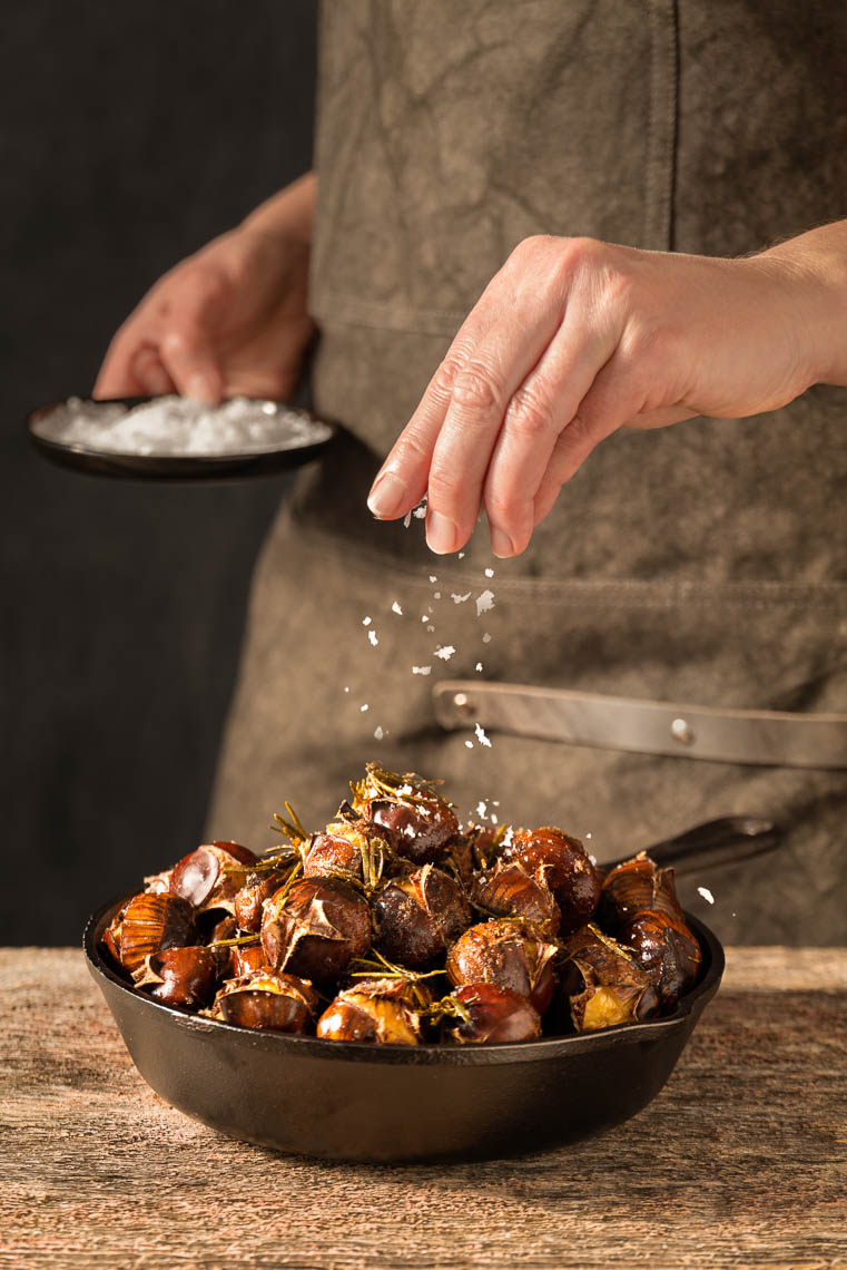 Roasted Chestnuts w/ Butter - Philadelphia Food Photographer