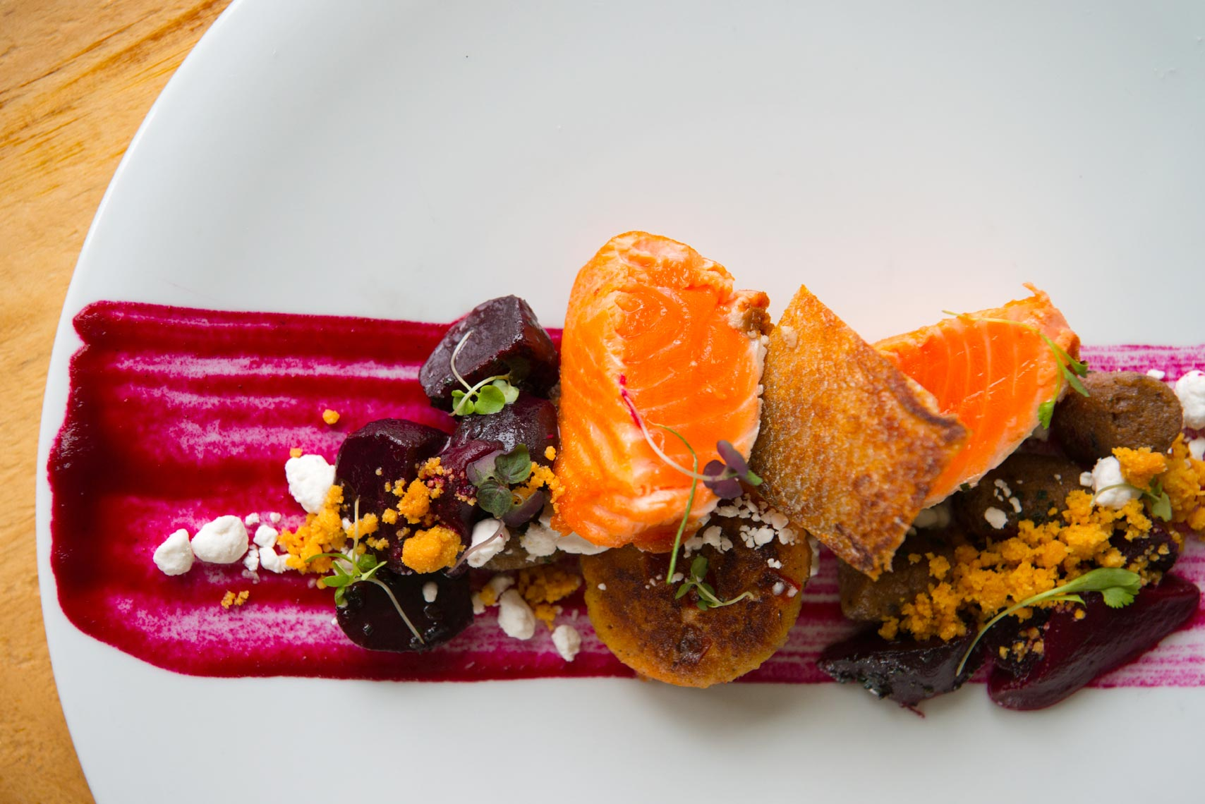Salmon Dish - The Ryland Inn - New Jersey Restaurant Photography